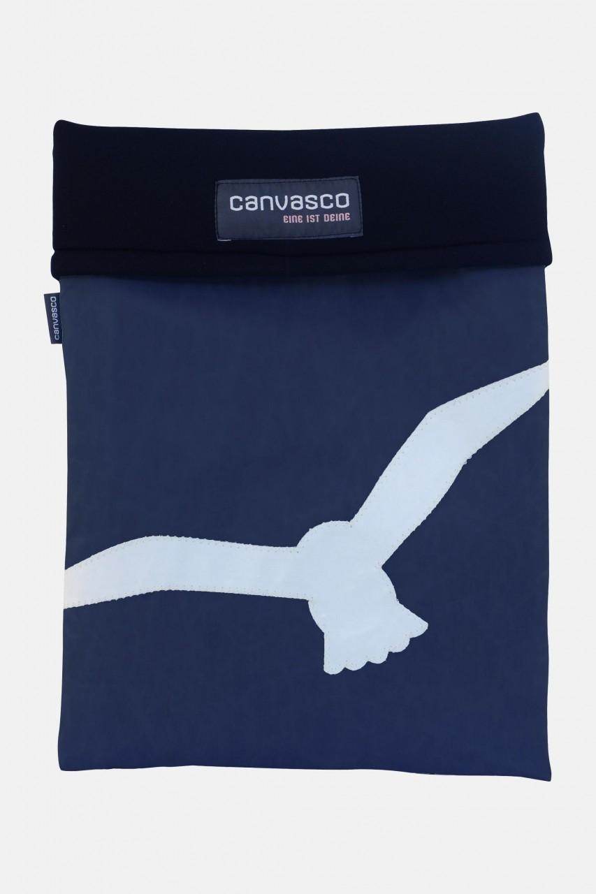Canvasco Laptop 15 Tasche Möwe Blau-Weiß