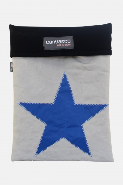 Canvasco Laptop 15 Tasche Stern Grau-Blau