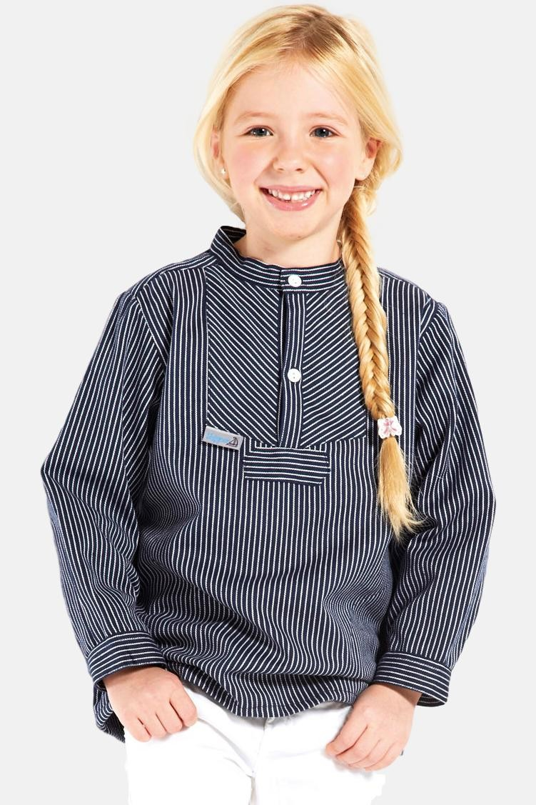 Fischerhemd Basic schmal gestreift Kinder