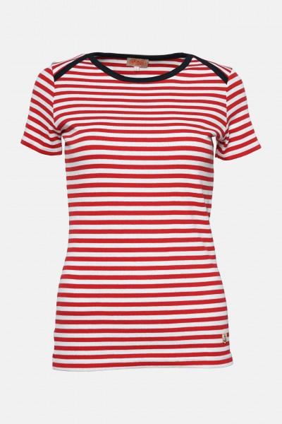 Armor Lux Damen T-Shirt Rot Weiß Heritage