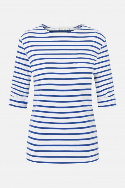 Armor Lux Cancale 3/4-Arm Streifenshirt weiß-sternblau Damen