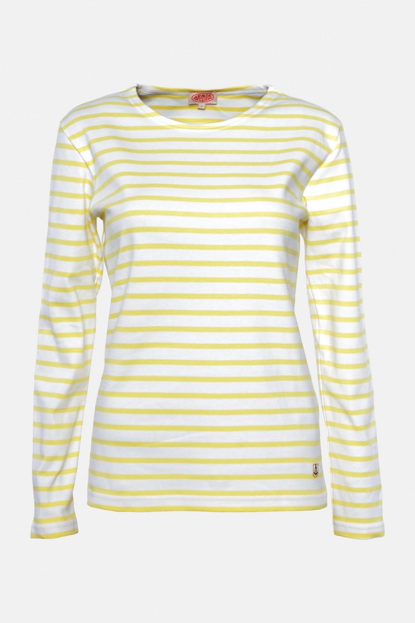 Armor Lux Damen Streifenshirt Weiß Gelb Mariniere Heritage