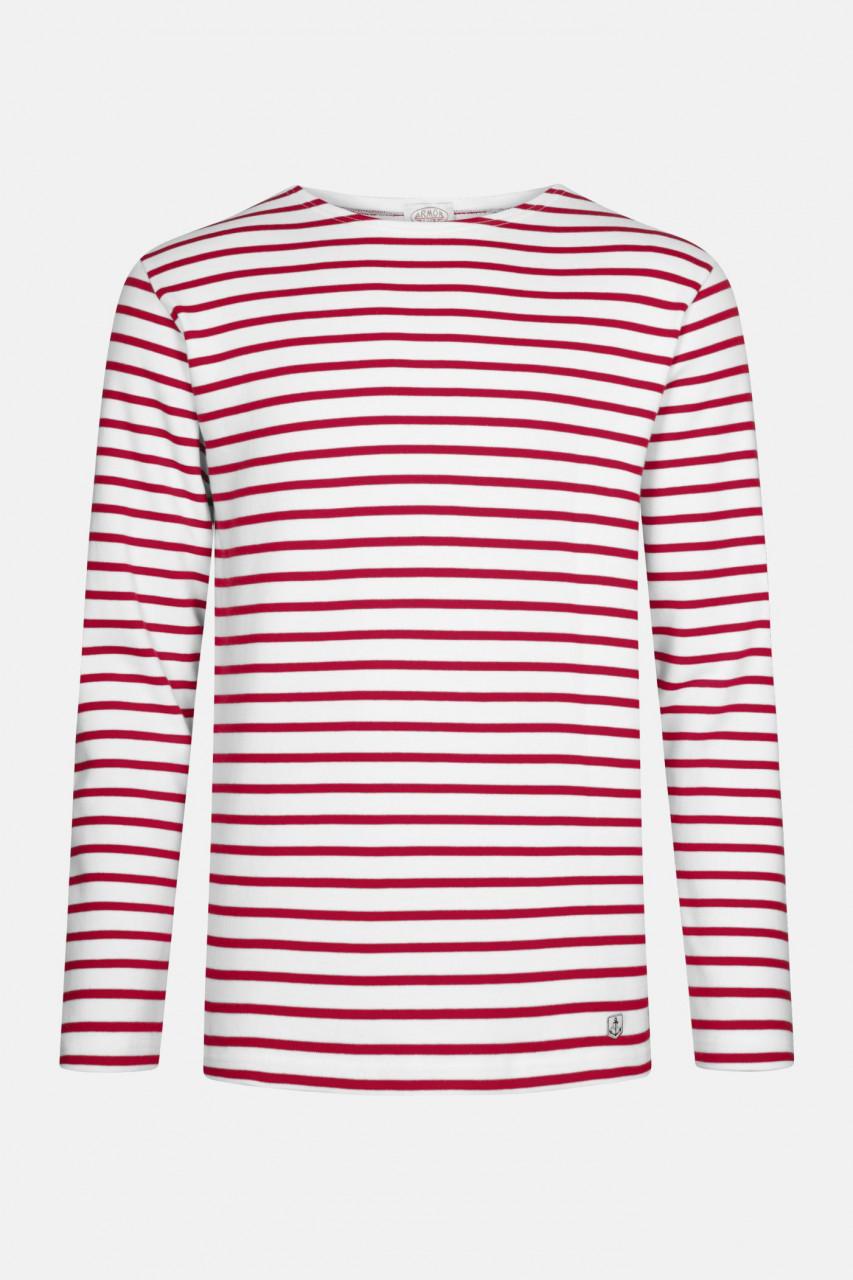 Armor Lux Streifenshirt Houat Weiß Rot Gestreift Herren Mariniere