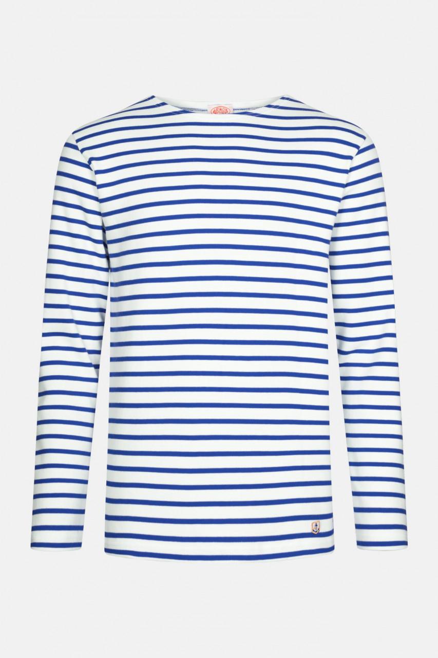 Armor Lux Streifenshirt Houat Weiß Sternblau Gestreift Herren Mariniere