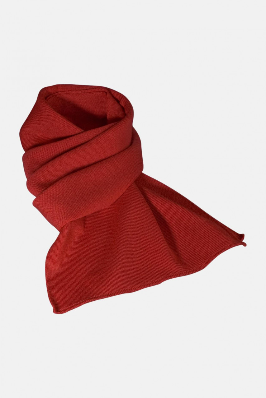 Strickschal aus 100% Schurwolle - Merino - rot