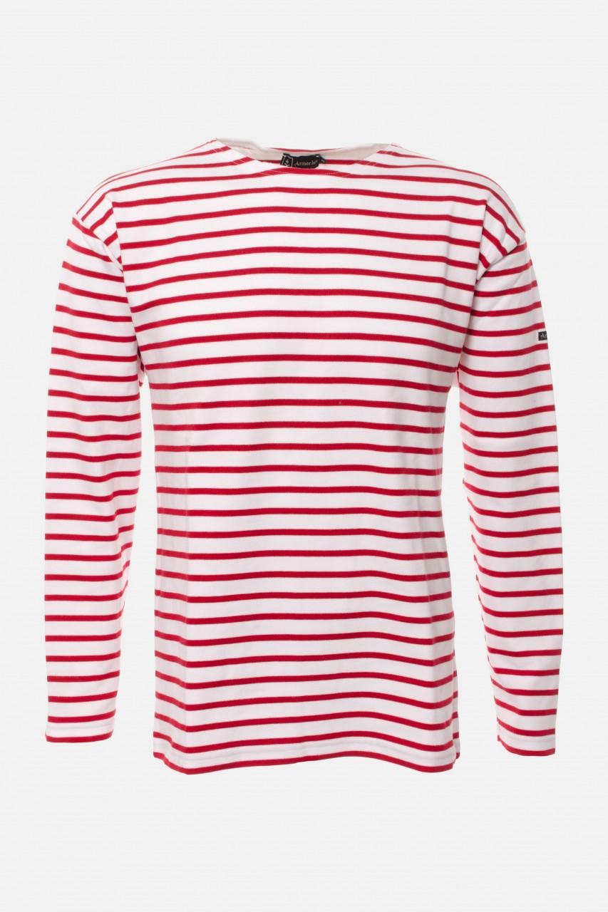 Armor Lux Loctudy weiß-rot Streifenshirt Herren